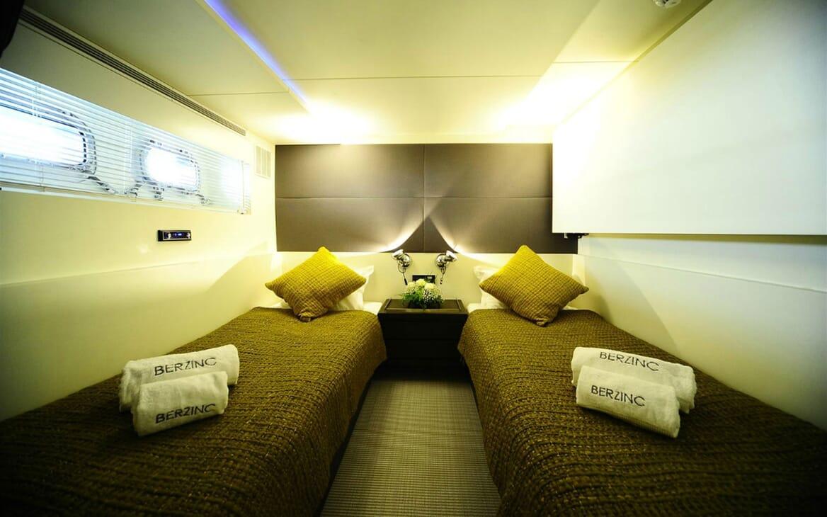 Motor Yacht Berzinc Twin Guest Stateroom