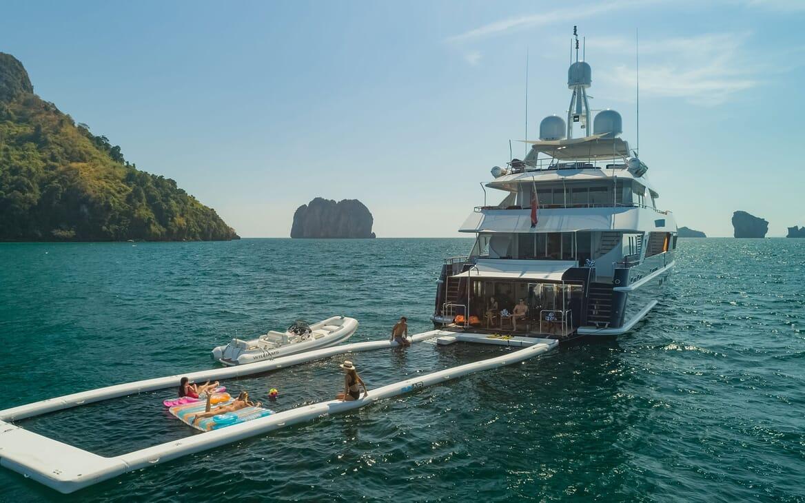 Motor Yacht LADY AZUL Aft Toys Set Up