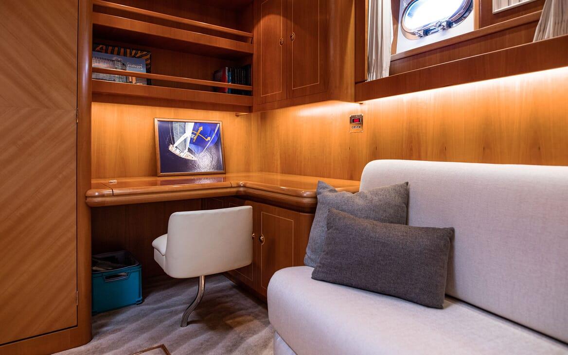 Sailing Yacht SCARENA Master Stateroom Desk
