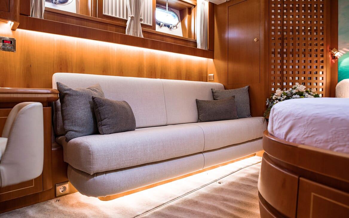 Sailing Yacht SCARENA Master Stateroom Seating
