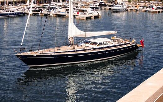 Sailing Yacht Scarena saloon