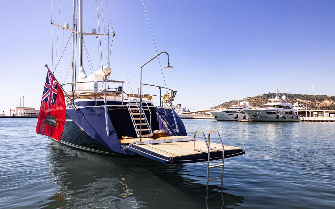 Sailing Yacht SCARENA Swim Platform