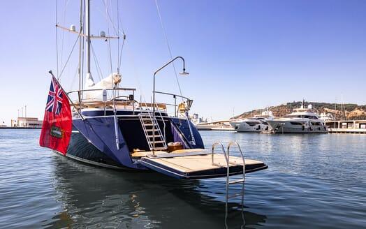 Sailing Yacht Scarena master cabin