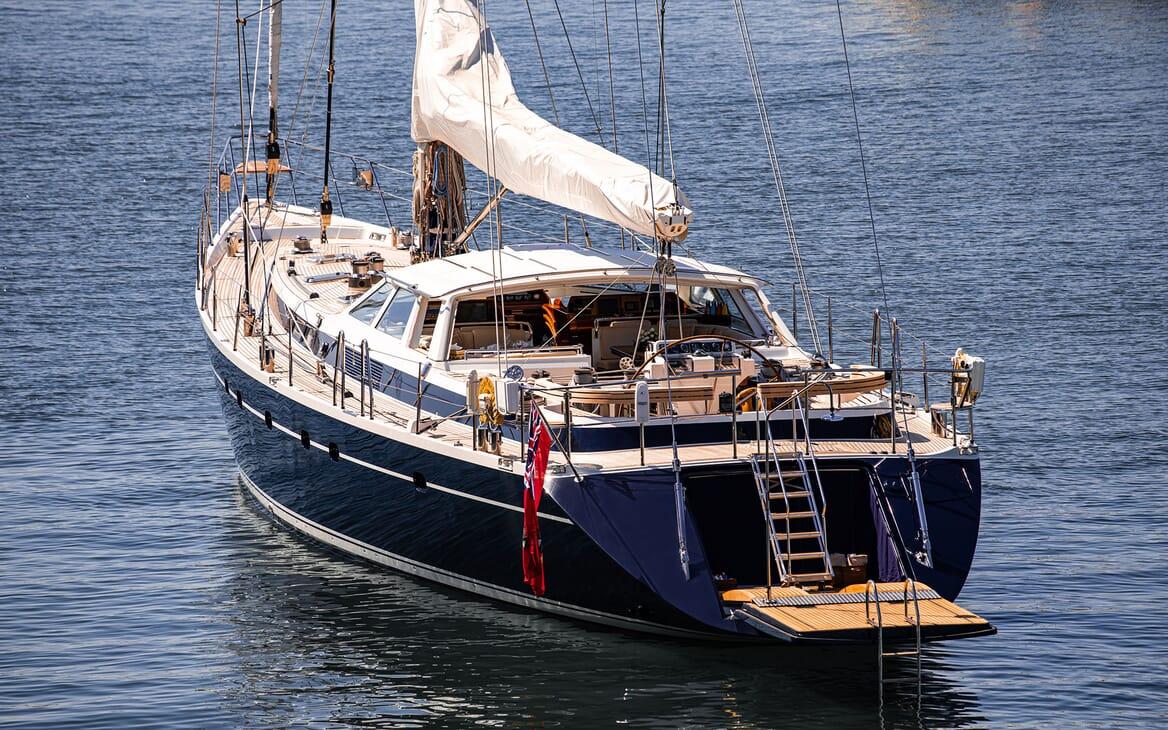Sailing Yacht SCARENA Aft with Swim Platform