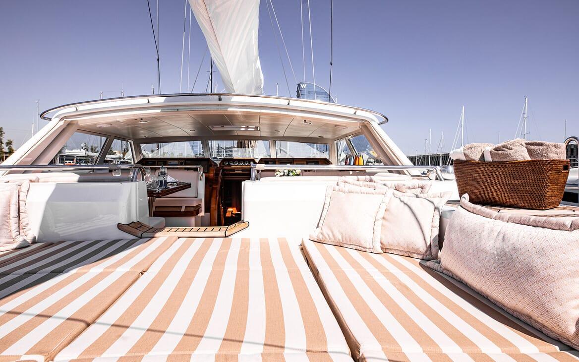 Sailing Yacht SCARENA Deck Sun Pad