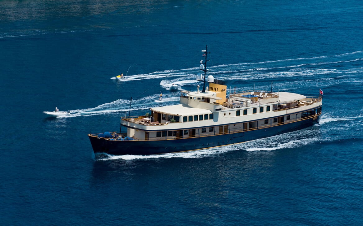 Motor Yacht SEAGULL II Underway with Toys