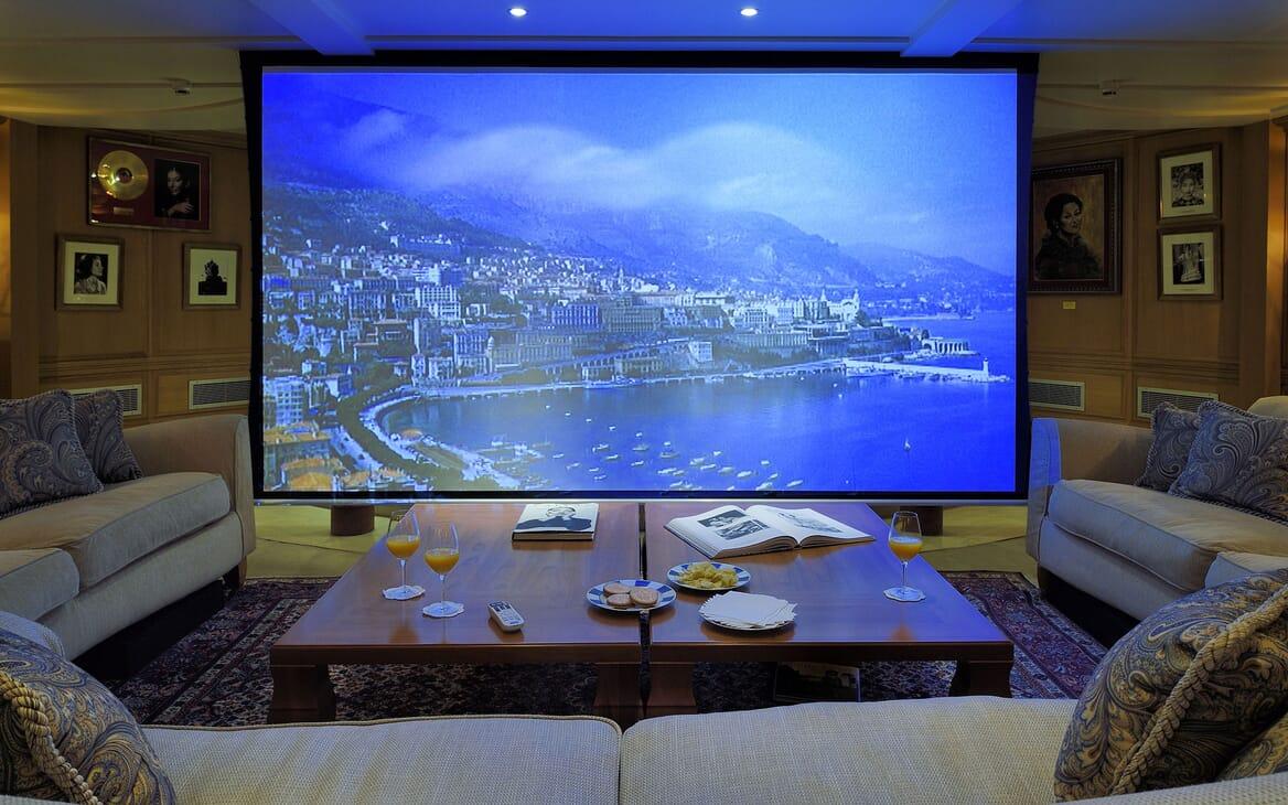 Motor Yacht CHRISTINA O Projector TV