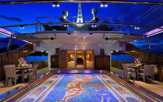 Motor Yacht CHRISTINA O Aft Deck
