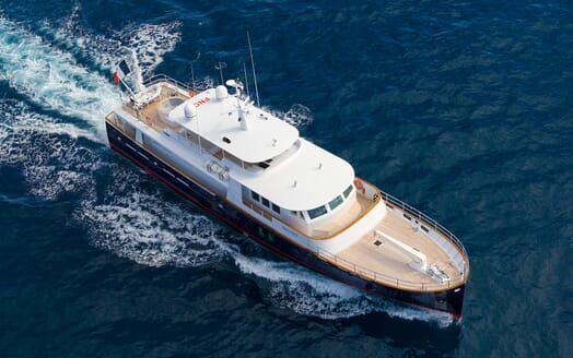 Motor Yacht Paolyre aerial