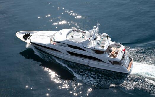 Motor Yacht DXB Aerial Underway