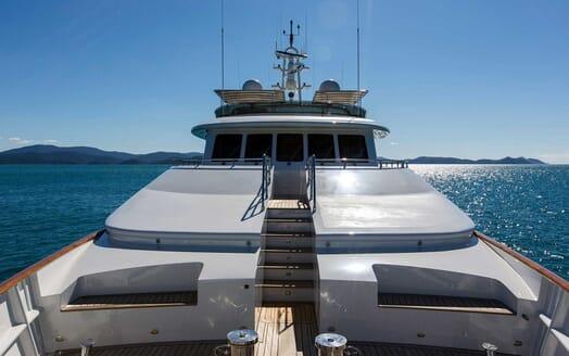 Motor Yacht Silentworld foredeck