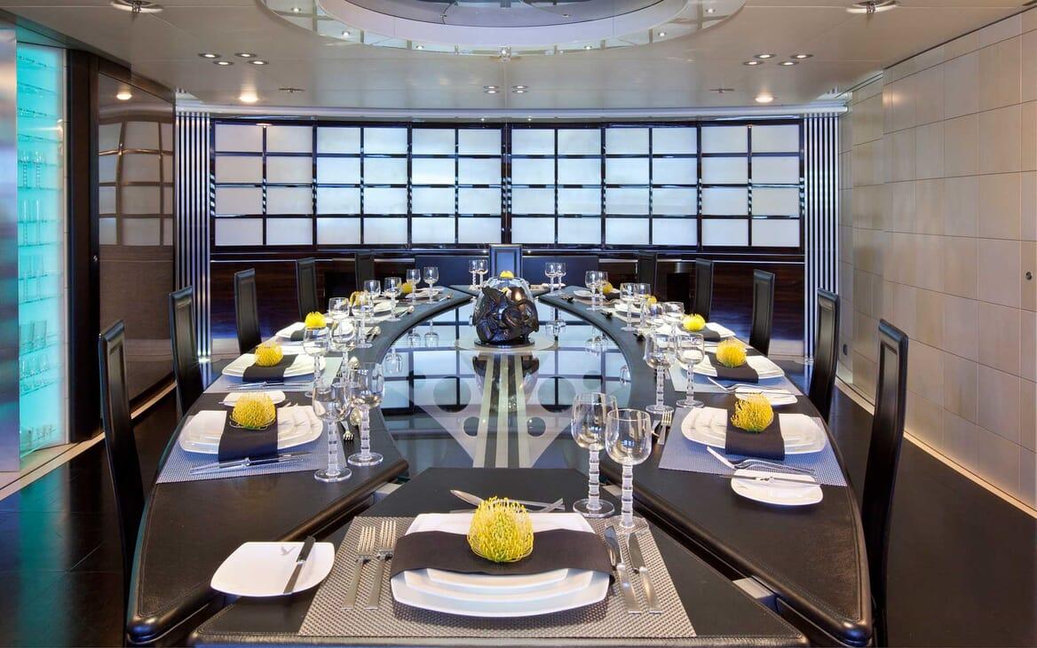 Sailing Yacht Maltese Falcon dining area