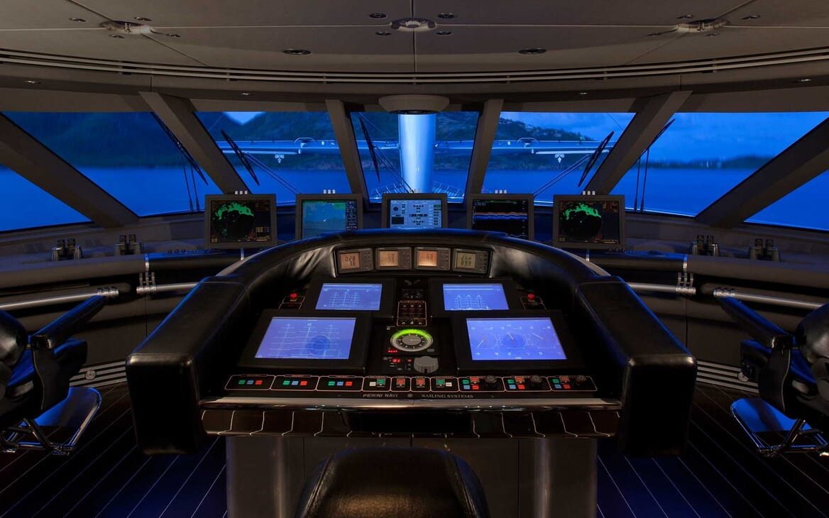 Sailing Yacht Maltese Falcon bridge