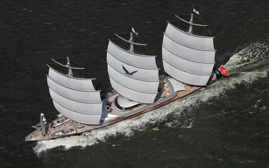 Sailing Yacht Maltese Falcon aerial