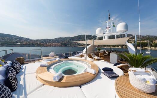 Motor Yacht BINA Sun Deck Jacuzzi