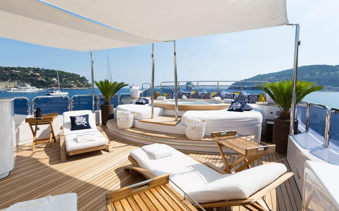 Motor Yacht BINA Sun Deck Aft jacuzzi