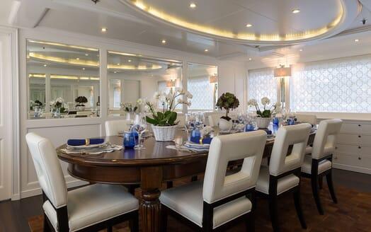 Motor Yacht BINA Dining Room