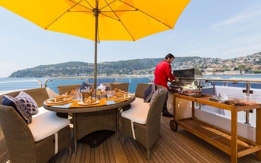 Motor Yacht BINA Sun Deck BBQ