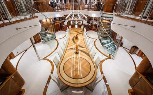 Motor Yacht SHERAKAN Dining Table