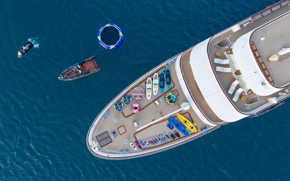 Motor Yacht SHERAKAN Aerial Bow