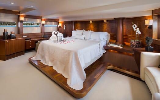 Motor Yacht Brazil master cabin