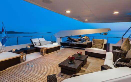 Motor Yacht Brazil outdoor seating area