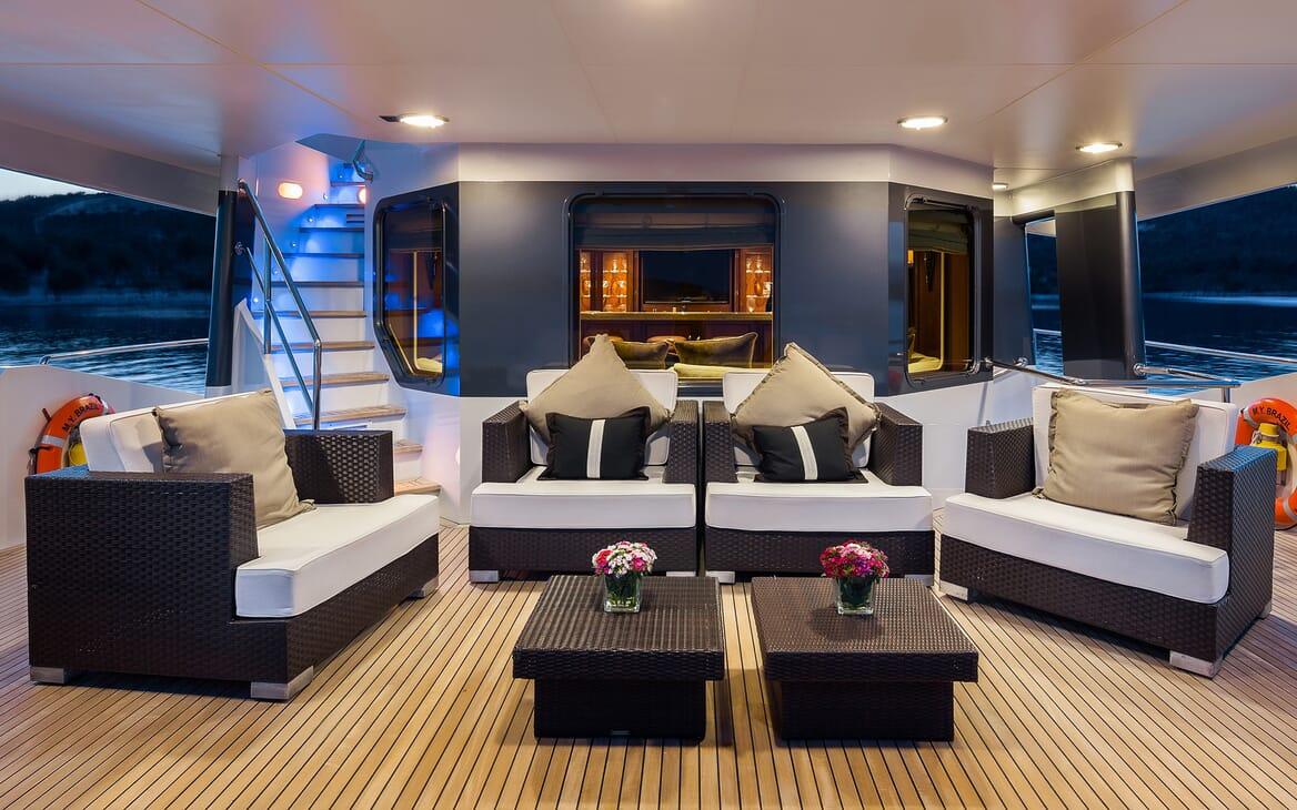 Motor Yacht Brazil deck