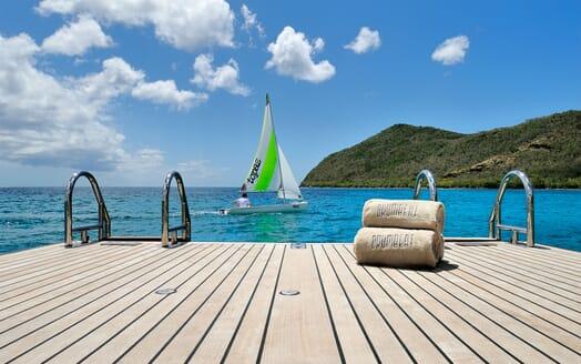 Sailing Yacht DRUMBEAT Swim Platform