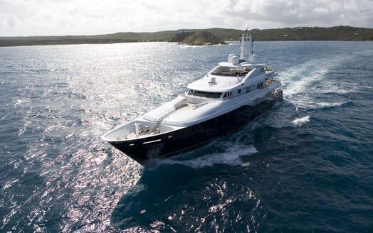 Motor Yacht Odessa running shot
