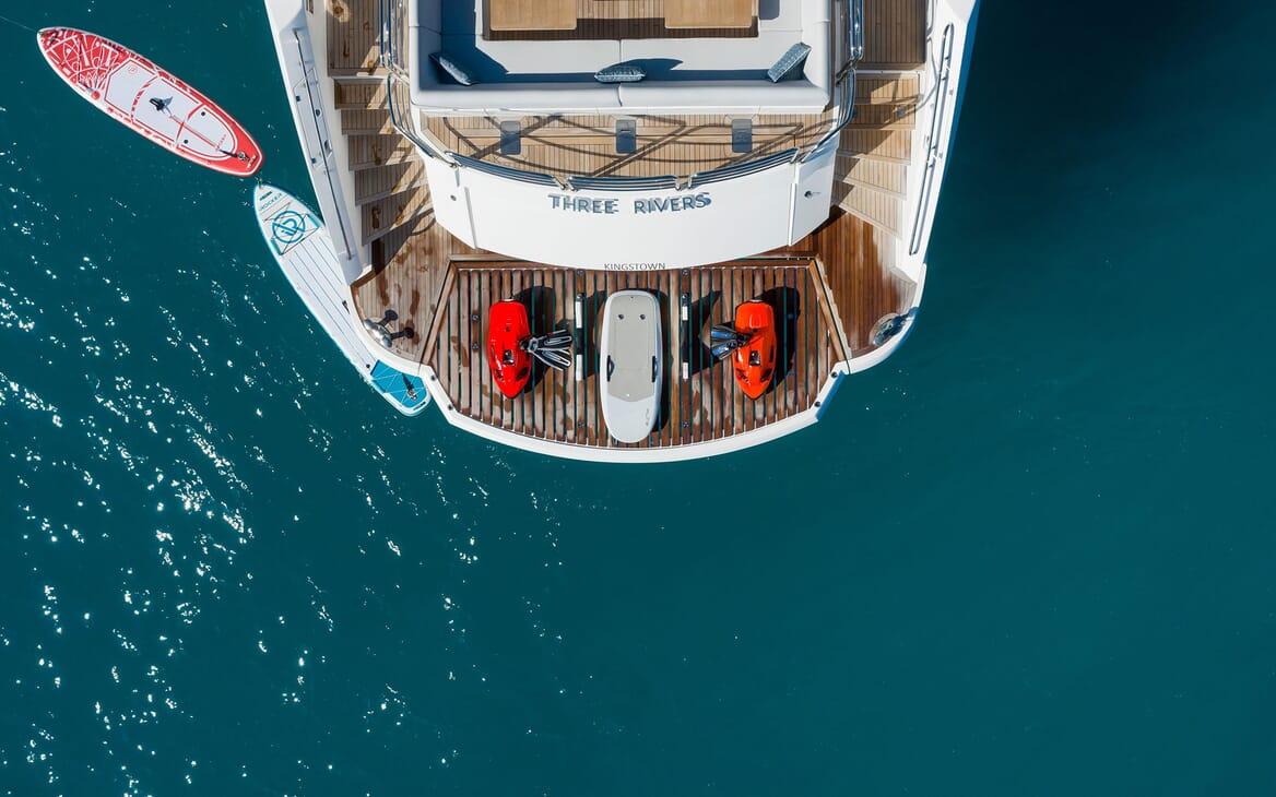 Motor Yacht THREE RIVERS Aft Swim Platform