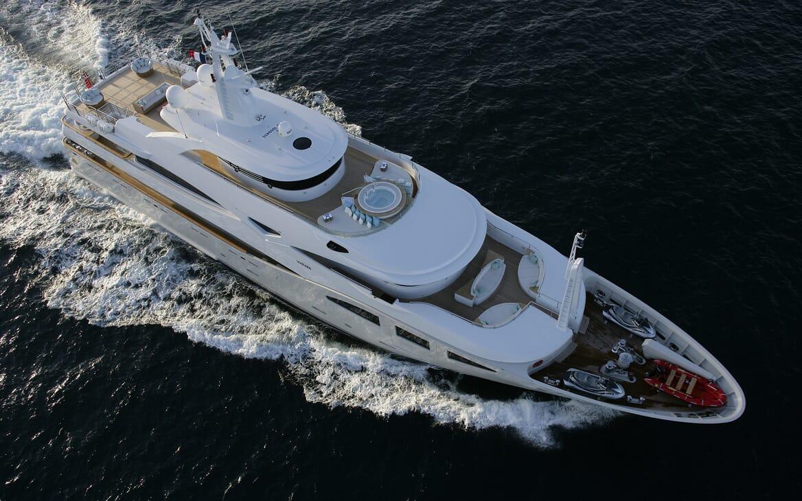 Motor Yacht Maraya aerial
