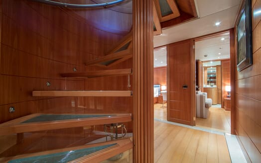 Motor Yacht Mac Brew Staircase