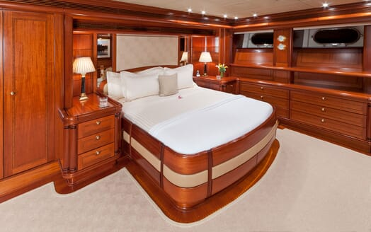 Sailing Yacht HYPERION Master Stateroom