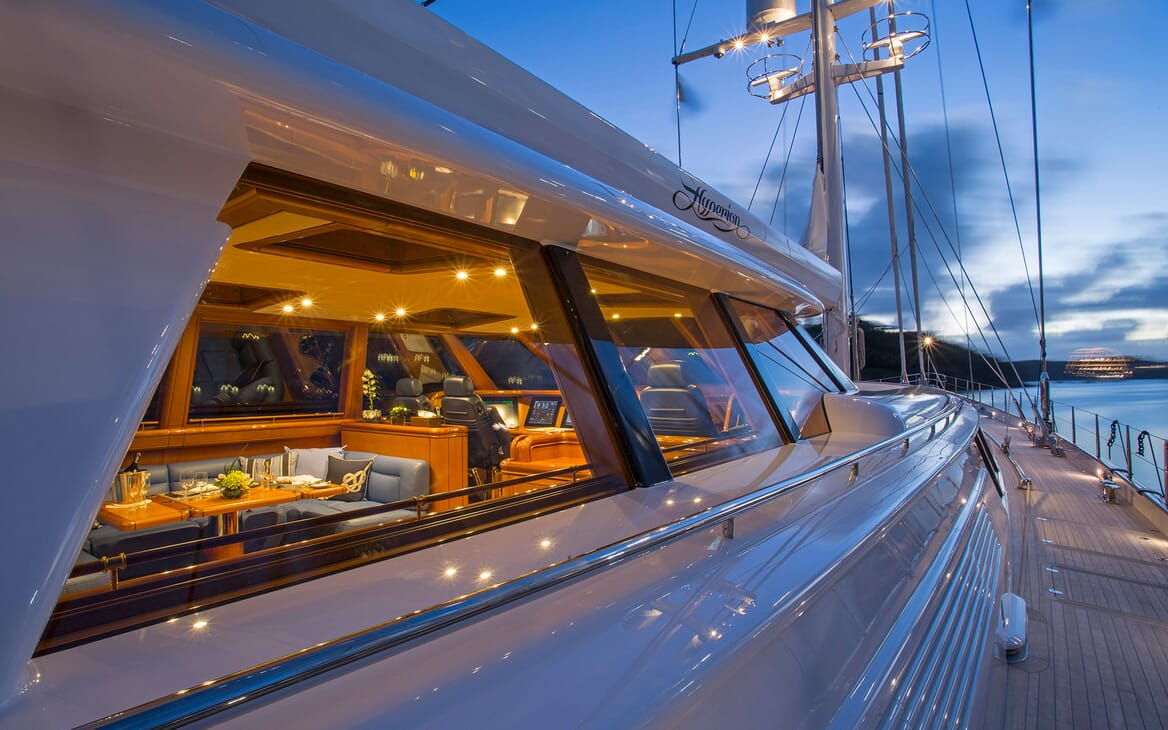 Sailing Yacht HYPERION Deck Walkway