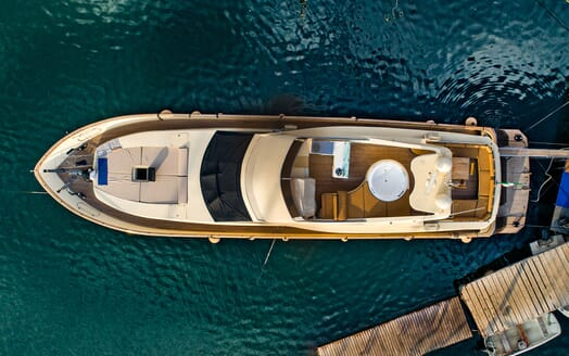 Motor Yacht ANDEA Aerial Shot