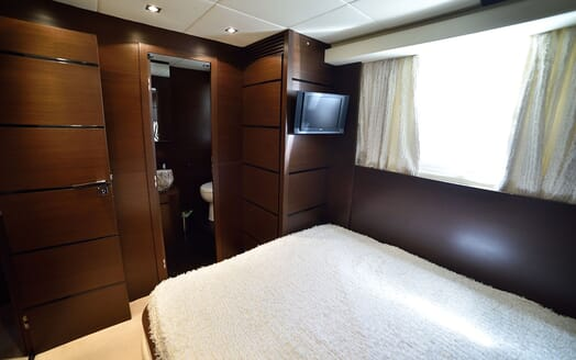 Motor Yacht ANDEA Guest Double Stateroom TV