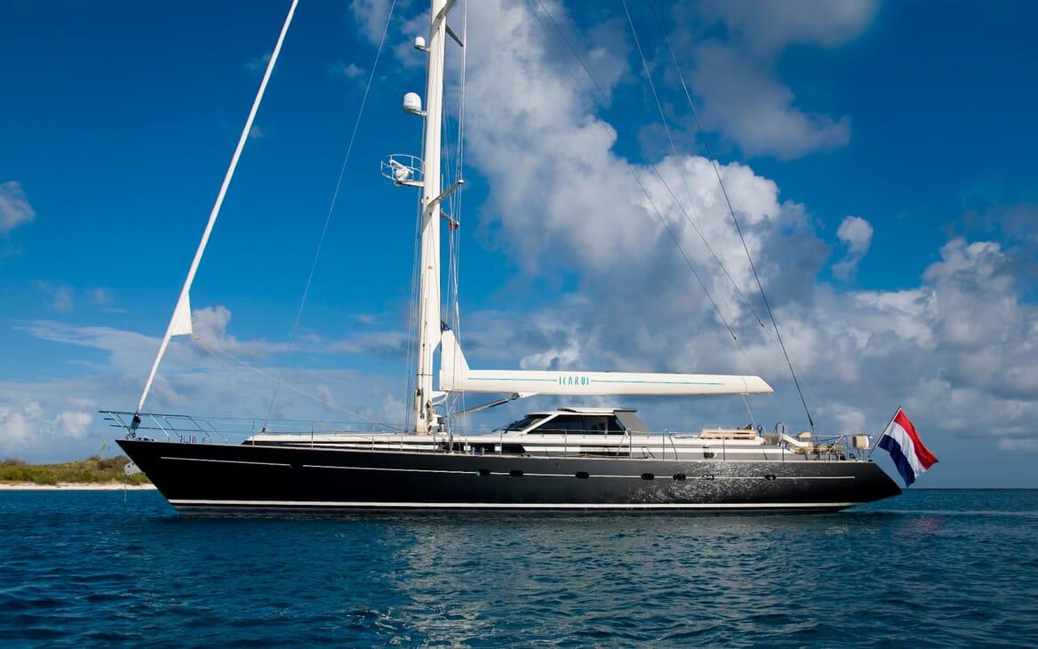 Sailing Yacht Icarus anchored