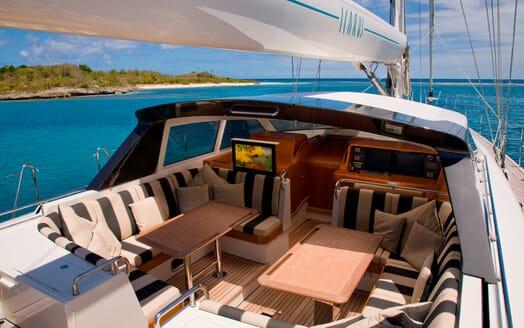 Sailing Yacht Icarus cockpit