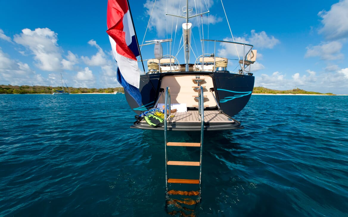 Sailing Yacht Icarus aft shot