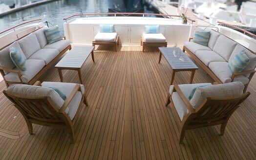 Motor Yacht Avalon Aft Deck Seating