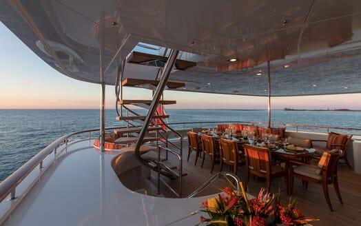 Motor Yacht Avalon Eveing Aft