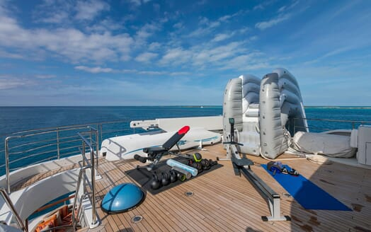 Motor Yacht Avalon Sun Deck Gym and Toys