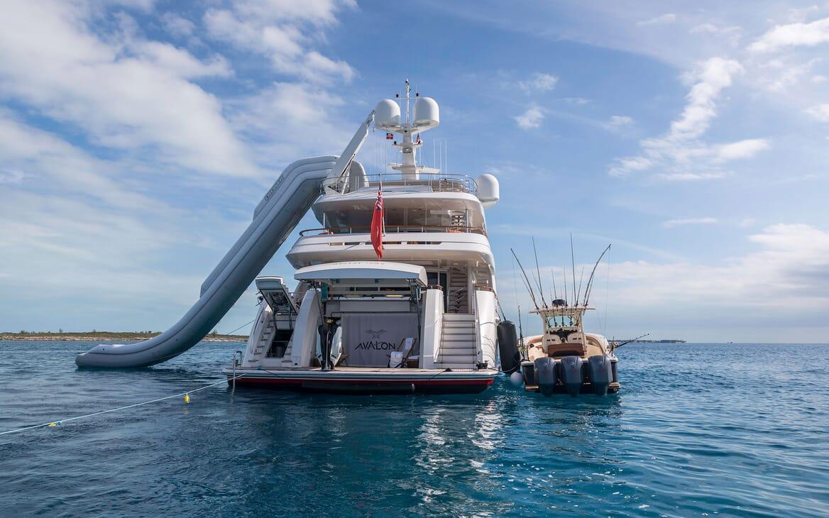 Motor Yacht Avalon Tender and Slide