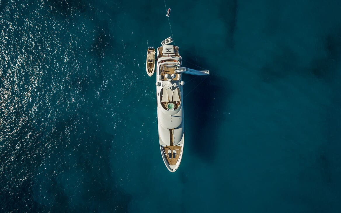 Motor Yacht Avalon Aerial View