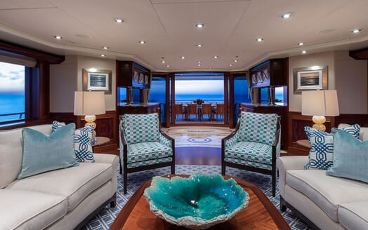 Motor Yacht Avalon Main Saloon Aft View