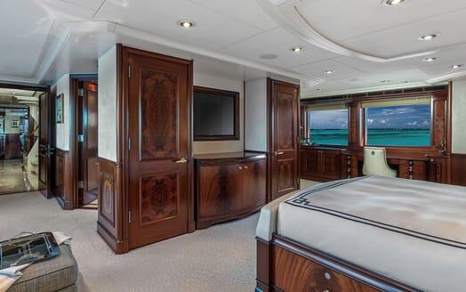 Motor Yacht Avalon Master Stateroom TV