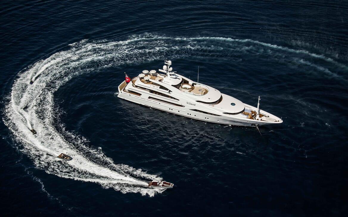 Motor Yacht ST DAVID Aerial Exterior