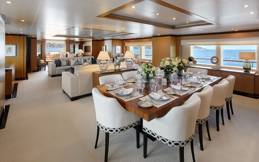 Motor Yacht ANDREAS L Main Saloon and Dining