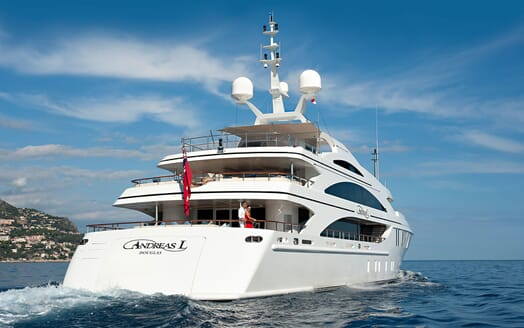 Motor Yacht ANDREAS L Aft Deck Exterior