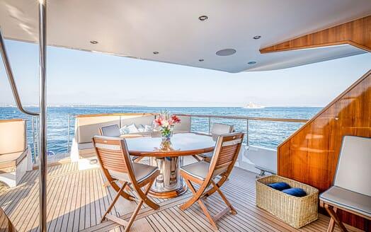 Motor Yacht CHANTELLA Aft Deck